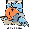 Vector Clip Art image  of a Crisis or Danger