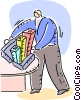 Vector Clipart image  of a Charting Success