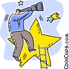 Vector Clip Art image  of a Climbing Ladders