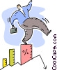 Charting Success Vector Clip Art image