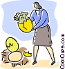 Vector Clipart graphic  of a Financial Success