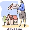 Mortgage and Loans Vector Clipart illustration