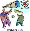 Vector Clip Art picture  of a Telescopes