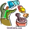 Medical Research Vector Clipart illustration