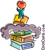 People with Books Vector Clipart picture
