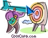 Targets and Objectives Vector Clip Art image