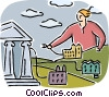 Vector Clipart picture  of a online banking concept