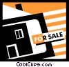 Vector Clipart picture  of a Real Estate