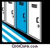 Vector Clipart picture  of a Lockers