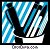 Vector Clip Art image  of an Assorted Pens