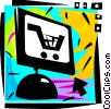 Online Transactions Vector Clipart graphic