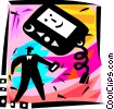 Pagers Vector Clipart graphic