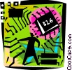 Vector Clip Art graphic  of a Circuit Boards