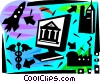 Online Concepts Vector Clipart illustration