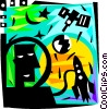 Vector Clip Art picture  of an Astronauts