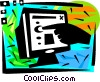 Monitors Vector Clipart graphic