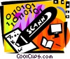 Vector Clip Art graphic  of a Hand Scanners