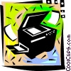 Vector Clipart illustration  of a Photocopiers