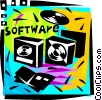 Vector Clipart illustration  of a Software Packages
