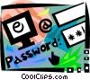 Online Transactions Vector Clipart illustration
