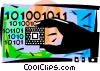 Vector Clip Art image  of a Digital Data