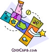Assorted Metaphors Vector Clipart illustration