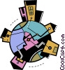 Vector Clip Art image  of a Global Networks