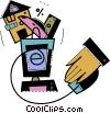 Online Transactions Vector Clipart picture