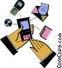 Vector Clipart picture  of a Personal Organizers Digital