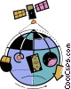 Global Networks Vector Clip Art graphic