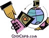 Vector Clip Art picture  of a Global Networks