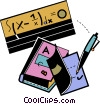 Vector Clip Art picture  of a School Subjects