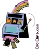 Vector Clip Art picture  of a Slot Machines