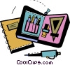 Assorted Pens Vector Clipart illustration