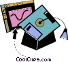 Vector Clip Art image  of a Diplomas and Caps Mortar