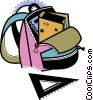 Vector Clipart illustration  of a Schoolbags and Knapsacks