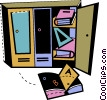 Lockers Vector Clipart graphic