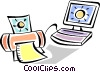 Vector Clipart illustration  of a Computer Desktop Systems