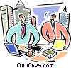 Businessmen working together Vector Clipart picture