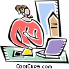 Businesswomen Vector Clip Art image