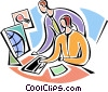 Vector Clip Art image  of a Collaboration