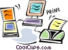 Vector Clipart image  of a Intranets