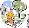 Vector Clip Art image  of a Businesswomen