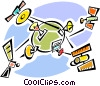 Vector Clipart illustration  of a Communication Concepts