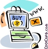 Vector Clip Art picture  of a Online Transactions