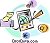Personal Organizers Digital Assistants, PDA's Vector Clipart picture