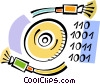 Vector Clipart picture  of a Fibre Optics
