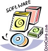 Vector Clipart picture  of a Software Packages
