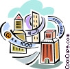 Vector Clip Art graphic  of a Communication Information