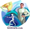 Fencing Vector Clipart illustration
